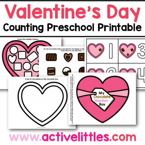 valentines day counting preschool printable