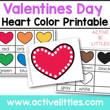 valentines day heart color printable