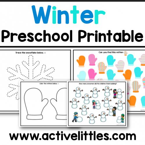 winter preschool printable